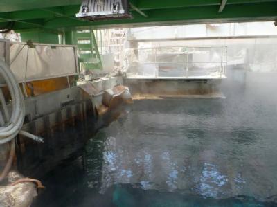 Wasserbecken in einem Gebäude des Unglücksreaktors von Fukushima. Foto: Tokyo Electric Power Co. (TEPCO)/Archiv