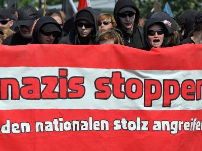 NPD-Demo in Bad Nenndorf - Gegendemonstration