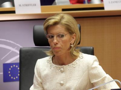 Die bulgarische Kandidatin Rumjana Schelewa während ihrer Anhörung.