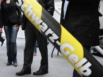 Schwarz-gelbes Begrenzungsband