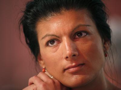 Sahra Wagenknecht sieht in FDP-Chef Westerwelle den «größten anzunehmenden Unfall» für die Regierung. (Archivbild)