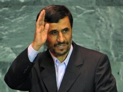 Ahmadinedschad nach seiner Rede vor der UN-Vollversammlung in New York.