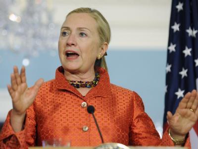 US-Außenministerin Clinton: «Wir möchten beide Seiten wieder am Verhandlungstisch sehen».