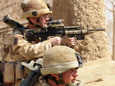 Britische Soldaten während der Offensive in der Provinz Helmand. (Archivbild; Foto: SSGT Mark Jones)