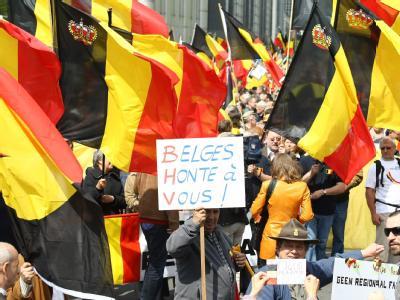 Belgier demonstrieren Mitte Mai für die Einheit ihres Landes.