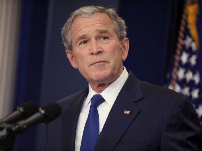 Der damalige US-Präsident Bush Mitte Januar vergangenen Jahres.