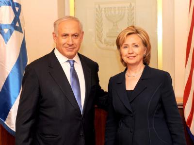 US-Außenministerin Clinton am Samstag bei ihrem Treffen mit Netanjahu.