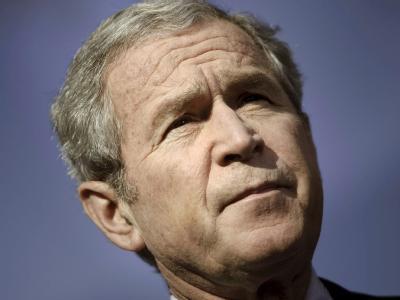 Der damalige US-Präsident George W. Bush Anfang Dezember 2008.