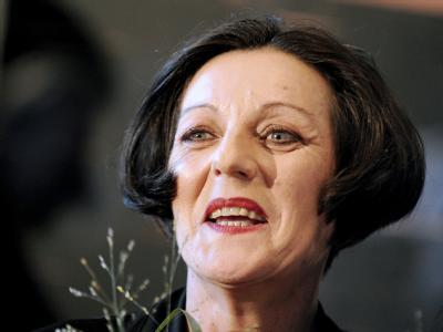 Herta Müller bei einer Pressekonferenz in Berlin. (Archivfoto)
