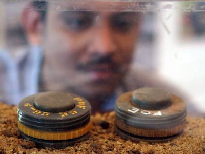 Landminen aus dem Bürgerkrieg in Sri Lanka. (Archivbild) Die USA wollen dem internationalen Abkommen zur Ächtung von Landminen weiter nicht beitreten.