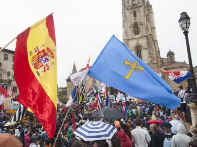 Gläubige beim Weltjugendtag in Madrid. Ein Chemiestudent hatte offenbar einen Anschlag auf Papstgegner geplant.