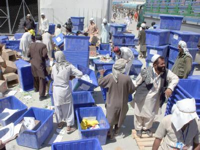 Wahlurnen in Kabul
