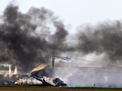 Militärflugzeug abgestürzt