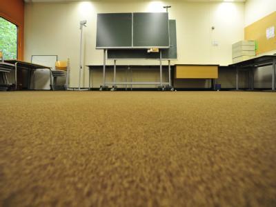 Der Raum 205 m Diesterweg-Gymnasium in Berlin wird als Gebetsraum genutzt.