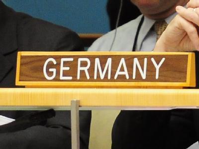 Das «Deutschland»-Schild im Hauptquartier der Vereinten Nationen in New York.