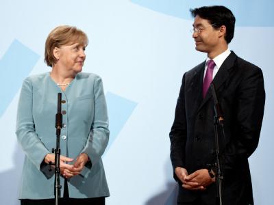 Bundeskanzlerin Angela Merkel (CDU) und ihr Vizekanzler Philipp Rösler von der FDP.