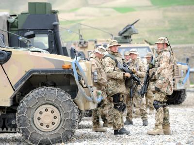 Bundeswehrsoldaten im Feldlager Feisabad in Afghanistan.