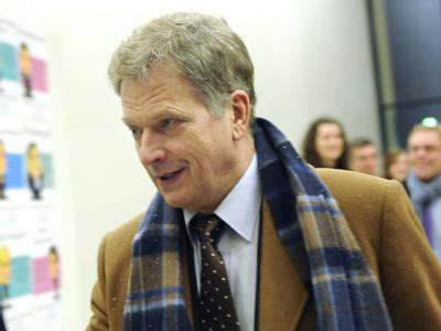 Der konservative Ex-Minister Sauli Niinistö gilt als Favorit. Foto: Kimmo Brandt