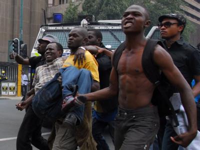 Protest gegen Wahlergebnis