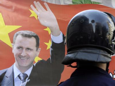 Assad-Konterfei