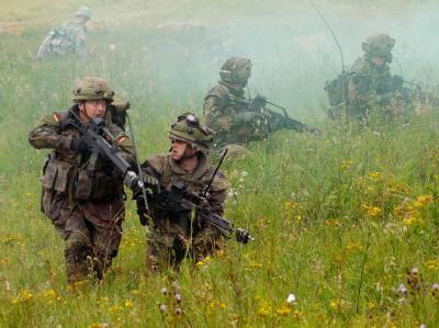 Verteidigungsminister zu Guttenberg favorisiert ein Modell, bei dem die Wehrpflicht praktisch ausgesetzt und durch eine Art freiwilligen Wehrdienst ersetzt würde.