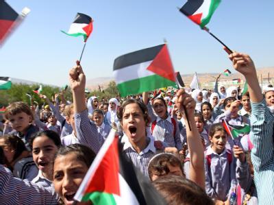 Schon vor Beginn der UN-Vollversammlung hatten die Palästinenser die Aussicht auf einen eigenen Staat gefeiert.