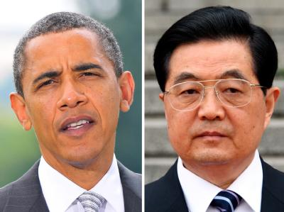 US-Präsident Barack Obama und der chinesische Staatspräsident Hu Jintao.