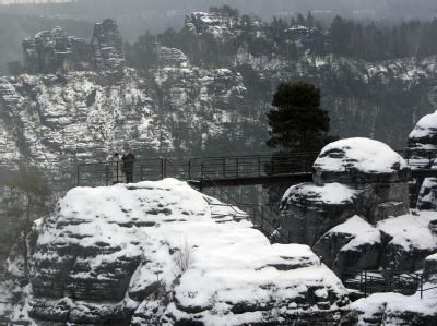 Sächsische Schweiz im Schnee