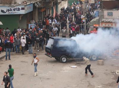 Momentaufnahme der Anti-Mubarak-Proteste in Kairo im Januar.