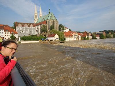Neiße-Hochwasser in Görlitz