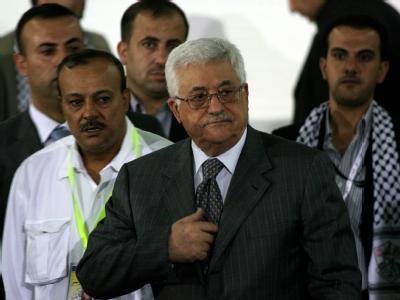 Palästinenserpräsident Abbas während des Parteitags in Bethlehem.