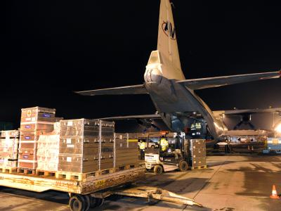 Hilfsg�tertransport nach Haiti