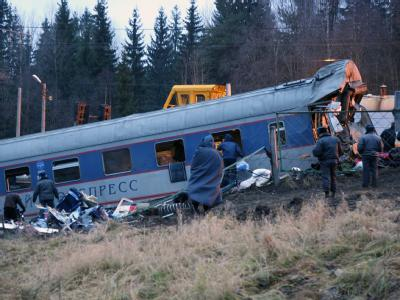 Zerstörter Eisenbahnwagen