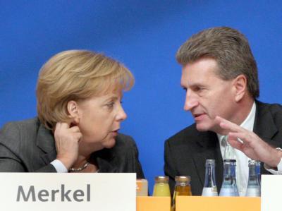 Merkel und Oettinger