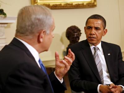 Barack Obama im Mai 2009 während eines Treffens mit Israels Regierungschef Netanjahu.