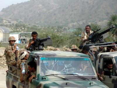 Jemenitische Soldaten bei einer Patrouille im Norden des Landes. (Archivbild)