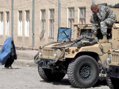 Ein erschöpfter US-Soldat im afghanischen Herat.