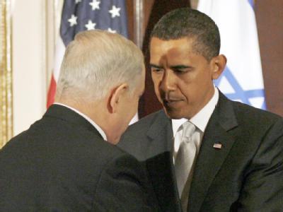 Israels Regierungschef Netanjahu zusammen mit US-Präsident Obama bei einem Treffen im September 2009.