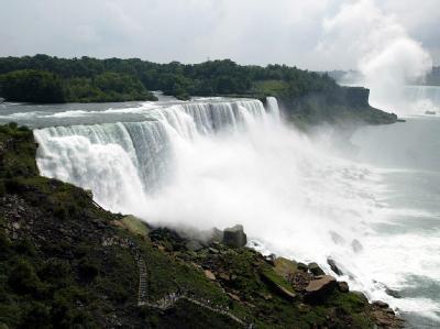 Die Niagara-Fälle an der Grenze zwischen den USA und Kanada.