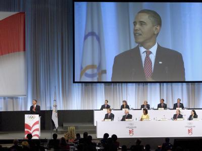 US-Präsident Obama am Freitag bei seinem vergeblichen Werben für die Olympia-Bewerbung von Chicago.