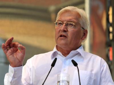 SPD-Kanzlerkandidat Frank-Walter Steinmeier bei einer Wahlkampfveranstaltung.