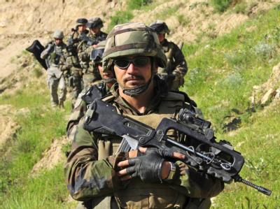 ISAF-Soldaten während eines Einsatzes in Afghanistan.