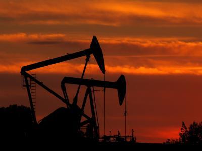 Ölpumpen auf einem Ölfeld bei Los Angeles (Symbolfoto).