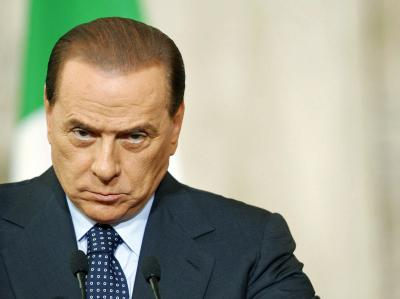 Regierungschef Silvio Berlusconi: Journalisten protestieren gegen sein Abhör- und Mediengesetz (Archivbild)