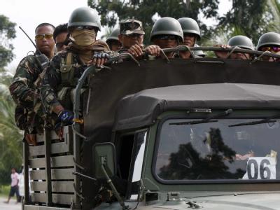 Philippinische Soldaten bei einem Einsatz im Süden des Landes. (Archivbild)