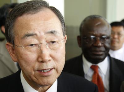 UN-Generalsekretär Ban Ki Moon während seines Besuchs in Birma. Foto: UN, Mark Garten