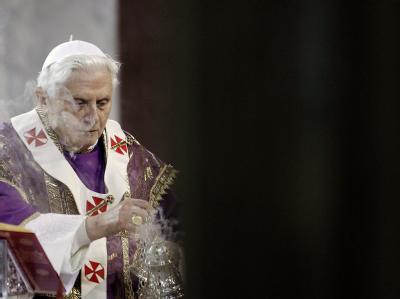 Papst Benedikt während der Aschermittwochsmesse am 17. Februar in Rom.
