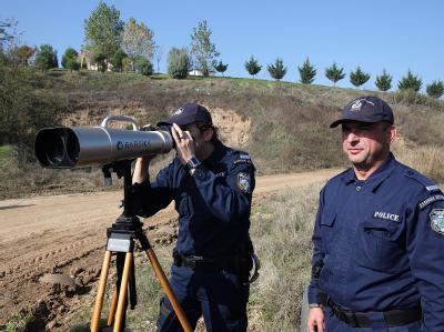 Polizisten an der Grenze zur Türkei.