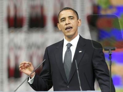 Barack Obama während seiner Rede bei der Preisverleihung in Oslo.
