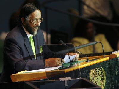 Rajendra Pachauri, hier im September 2009 bei einer Rede vor den Vereinten Nationen, ist Vorsitzender des IPCC.